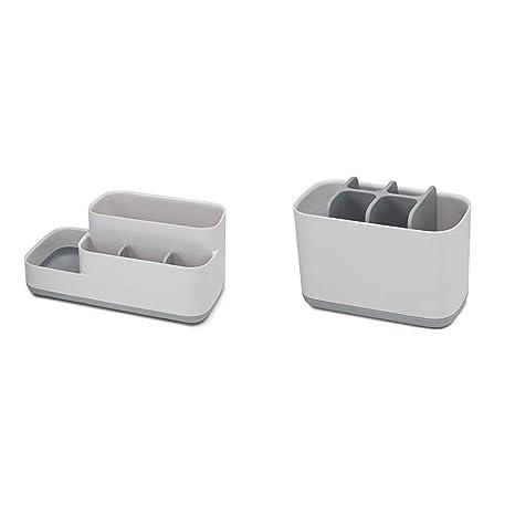 White//Grey Large /& Joseph Caddy Sink Area Organiser Joseph Joseph Bathroom Easy-Store Toothbrush Caddy- White//Grey Regular