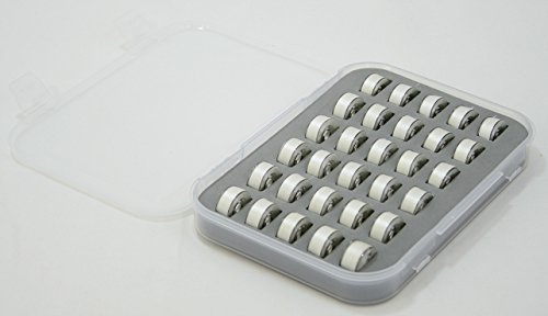 Premium Bobbins Box court case through 30 Premium design and style SA156 Bobbins Organizer Size A Prewound Bobbins Made for ALL Brother Sewing Machines Bobbins