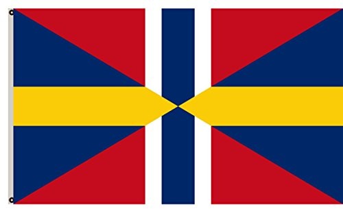 weden and Norway 1844-1907 flag banner 12x18inch (1907 Union)