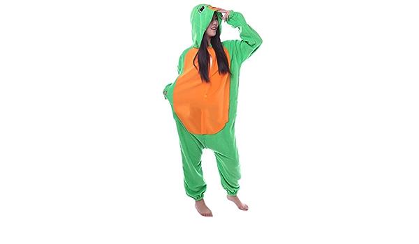 Fandecie Pijama Tortuga Marina, Onesie Modelo Animales para adulto entre 1,60 y 1,75 m Kugurumi Unisex.