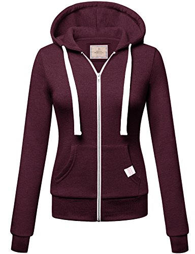 Price comparison product image Basic Zip Up Hoodie PLUM XL