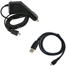 LG VS660/Vortex Combo Rapid Car Charger + USB Data Charge Sync Cable for LG VS660/Vortex