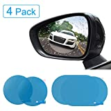 YGL Car Rear View Mirror Film, Rainproof & Anti-Glare Side Mirror Window Protector Film, Anti- Fog Anti-Scratch Clear Car Rearview Mirror Accessories, Pack of 4