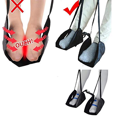 Travel Footrest Hammock Airplane Foot Hanger Portable Flight Foot Rest Relaxed Hammock Comfortable Adjustable Height by Shentukeji (Image #5)