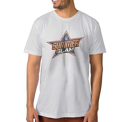 DOME WWE SummerSlam 2016 LOGO Cotton T Shirts For Men White