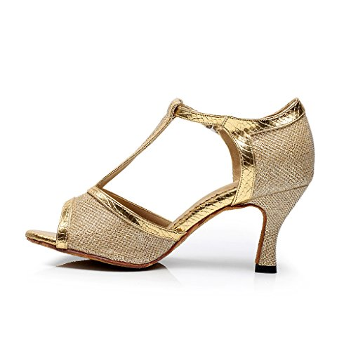 Salsa 2 Tanssikengät Kantapää Tango Peep Naisten Toe Tanssisali Käytännössä Misu Kultaa 75 Sandaalit Latin qTpCXFAnxw