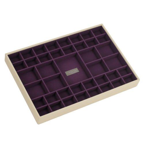 STACKERS jewellery box | supersize cream & purple criss cross stacker