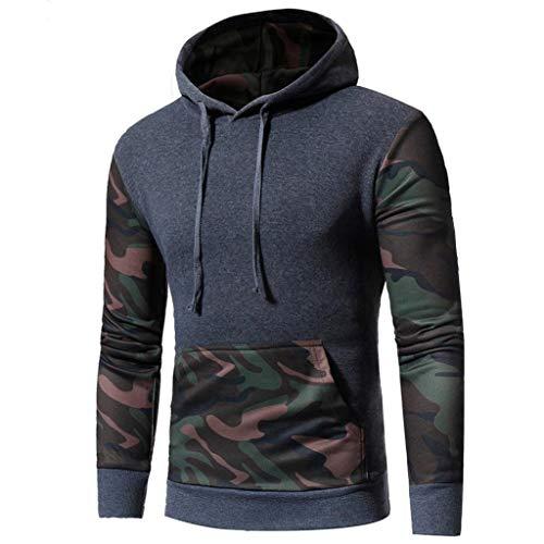 Bookear Men's Camouflage Long Sleeve Print Hooded Sweatshirt Tops Warm Outwear Jacket Coat by Bookear