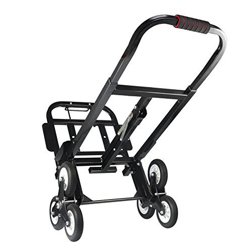 TG888 Folding Adjustable Hand Truck Dolly Roll Six Wheeled Stair Climbing Cart Trolley (Roll Steel Ladder)