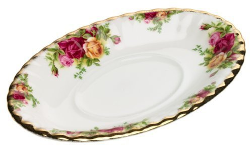 Royal Albert Old Country Roses Gravy Boat Stand - Gold Gravy Boat Stand