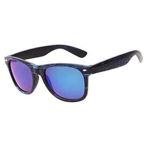 sol Hombres gafas Mujeres de Cool aire madera Vintage de de to SKY Gafas gafas Round de Cuadrado libre sol de al deporte B imitación Mirrored wear qwRxn7nIt