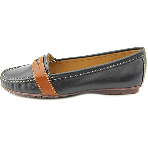 Sebago Damen Meriden Penny Slipper Black/Cognac leather