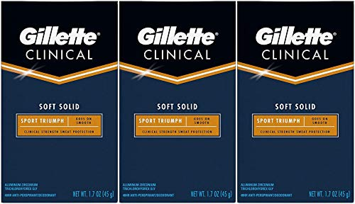 Gillette Clinical Soft Solid Antiperspirant Deodorant, Sport Triumph, 1.7 Ounce (Pack of 3)