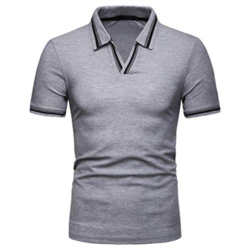 12d14cbe5a5 POQOQ T Shirts Polo Tops Blouse Men s Casual Lightweight Short Sleeve  Raglan Henley Jersey Shirt V