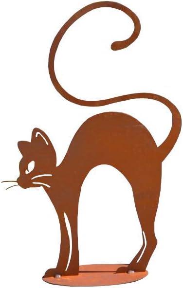 Elegante Gato buckelnd Gato somier (Gato Metal Oxidado ...