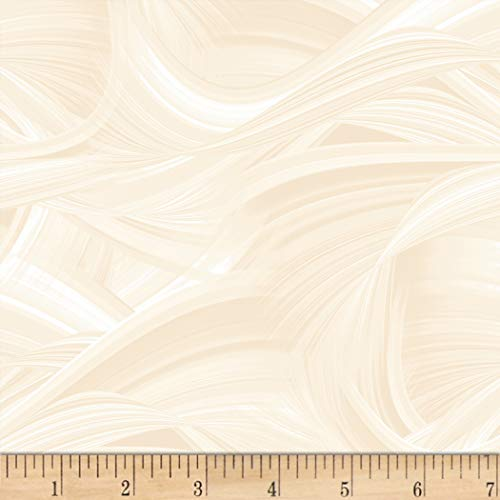 (Blank Quilting Sedona Wave 108'' Wave Texture Ivory, Fabric by the Yard)