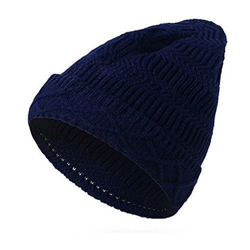 Gorro negro Mens de Womens invierno 2017 lana suave gorros punto Beanie KeepSa Brandnew Gorro Unisex de caliente de sombreros 4ZUXqww