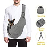 SlowTon Pet Carrier, Hand Free Sling Adjustable Padded Strap Tote Bag Breathable Cotton