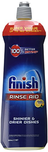 Finish Dishwasher Rinse Aid, Lemon, 800 ml (Pack of 2, Total 1600 ml)