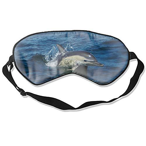 Sleep Mask, Blindfold Super Smooth Eye Mask Dolphin Safari Eye Cover for Women Men Comfort Deep Eye Masks Best Lightweight Night Eyeshade Blinder Travel Airplane (Dolphin Safari)