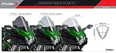 Cupula Racing Kawasaki Ninja H2 SX 18-19 Ahumado Puig 9704h ...
