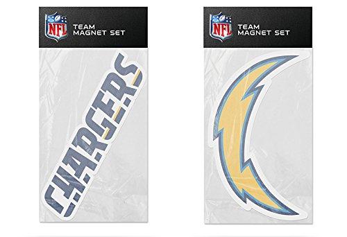 - Rico Industries NFL Los Angeles Chargers 2-Pack Die Cut Team Logo Magnet Set