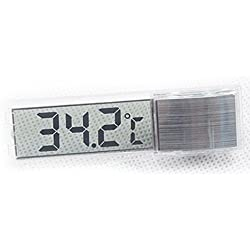 Binglinghua Aquarium Thermometer LCD Digital Thermometer for Fish Tank Aquarium Vivarium Reptile Terrariums Temperature (silver)