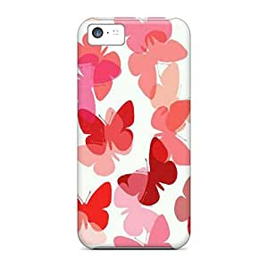 Bumper Hard Phone Covers For Iphone 5c With Support Your Personal Customized Realistic Butterfly Skin SherriFakhry