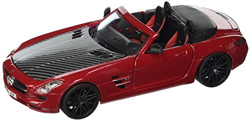 - Maisto 1:24 W/B Exotics - Mercedes-Benz SLS AMG Roadster with Carbon Fiber Hood