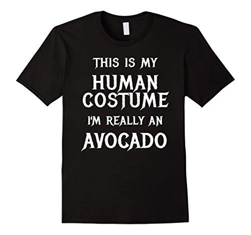 Mens I'm Really an Avocado Halloween Costume Shirt Easy Funny XL Black