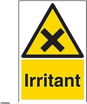 color negro//amarillo vsafety 6/a030an-rSosa c/áustica ADVERTENCIA sustancia y qu/ímicos se/ñal, pl/ástico r/ígido, vertical, 150/mm x 200/mm