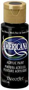 DecoArt Americana Acrylic Paint, 2-Ounce, Lamp Black