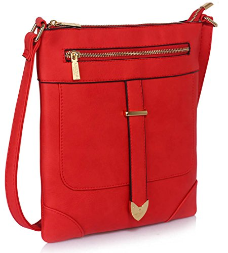 Crossbody Messenger Design 1 Shoulder Bags Red Womens Cross Zip Luxury Front With Body New Ladies Designer OxnH6Iq8ww