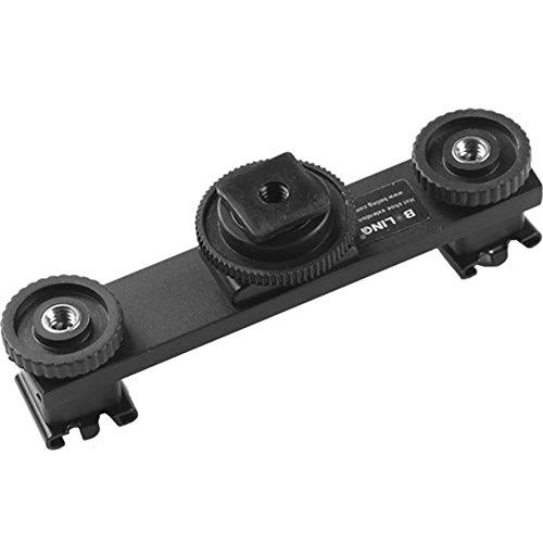 BOLING Hot Shoe Extension Bar Mount Dual Bracket For DV Vide