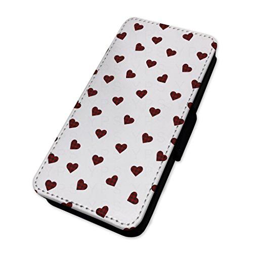 Tartan cuori modello–Flip cover in pelle copertura di carta Apple Iphone 7