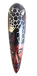 OMA African Mask Giraffe Mask Wall Hanging African Wall Art Jungle Decor - LG. 20\