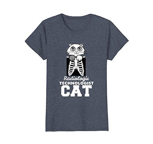 Rays Cat - Womens X Ray Cat Rad Tech Radiology Barium Funny TShirt XL Heather Blue