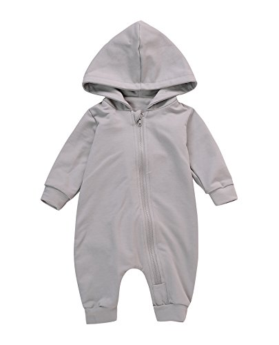 Cute Baby Boy Girl Animal Dinosaur Long Sleeve Hoodie Romper Baby Costumes Jumpsuit 612M Grey