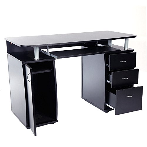 Home Office Computer PC Desk Workstation Study Laptop Writing Table 3 Drawers by totoshopdesk