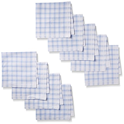 Hankie Mens Gift Set - Dockers Men's 9 Piece Hankie Gift Set,Blue Plaid,One Size