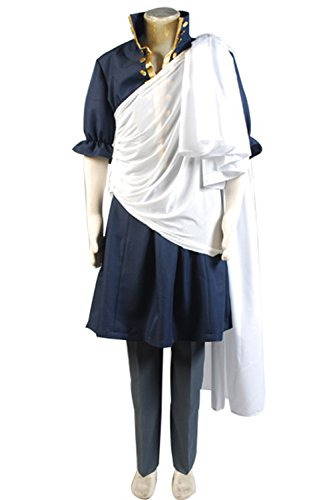 Zelda Midna Costume (UU-Style Fairy Tail Wizard Zeref Jacket Pants Uniform Outfit Cosplay Costume)