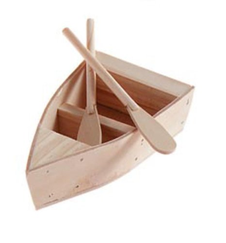 (Darice 9154-92 Wood Boat with Oars, 5-1/4-Inch)