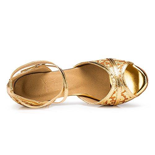 femme Heel Salle Gold bal Miyoopark de 6cm w1gPfvZq