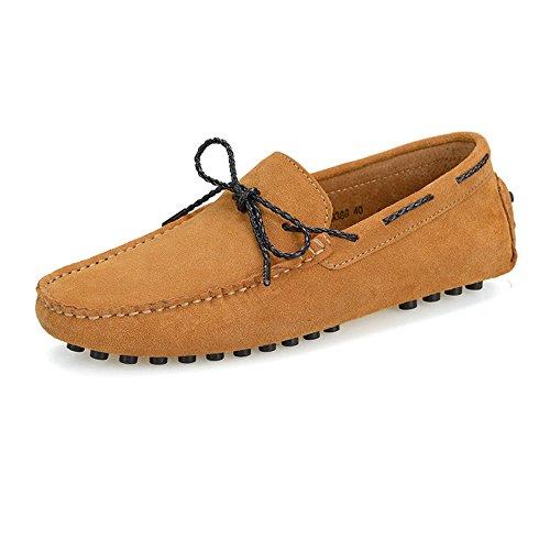 Genuino Deslizamiento Studs Casuales EU tamaño Marrón para Hombres Cuero Conducción Zapatos más Moccasins Rubber Ofgcfbvxd Ligero Loafers 42 Color Suede Armada Sole Boat Penny en amplios x6q7TI