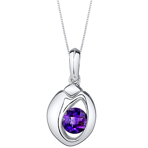 Sterling Silver Sphere Pendant Necklace available in various colored stones