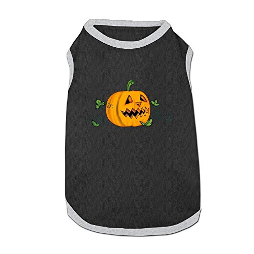 Dog T-Shirt Clothes Halloween Creepy Pumpkin Doggy Puppy Tank Top Pet Cat Coats Outfit Jumpsuit Hoodie]()