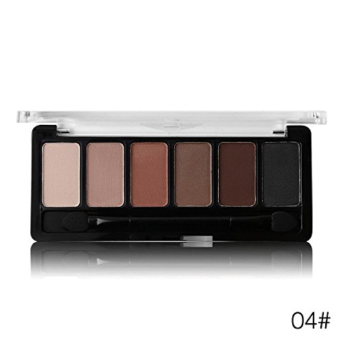 Absolute Waterproof Rose 6 Colors Shimmer Shadow Palette Eye Shadow Frosted Nude Shine Natural Silk Pigments (04#)