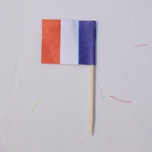 Garcia de Pou Flag Picks France in Box, Wooden, Assorted, 4 x 2.5 x 6.5 cm by Garcia de Pou