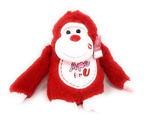 Stuffed Toys, Plush Ape Wild Animal Love Mother's Day, Aniversary Celebration (Ape Red Monkey)