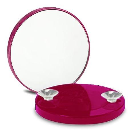 OOOH Miroir Grossissant x10 à ventouses - Rose clair - 8.5cm Le comptoir des tendances wz-14608-MirrOhRoseClair